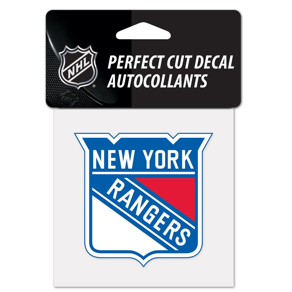 New York Rangers Official NHL 4 inch x 4 inch  Die Cut Car Decal by Wincraft