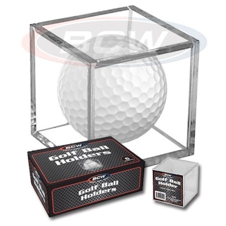 (1) Golf Ball Display Cube Square Stackable Holder Auto Autograph, BCW Golf Ball Display Cube Square By BCW,USA