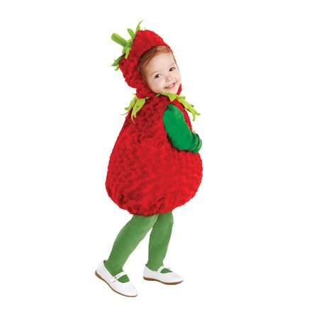 Toddler Strawberry Costume by Underwraps Costumes 25973 - Strawberry Shortcake Baby Costume