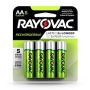 Rayovac Rechargeable AA Batteries, Ready to Use NiMh, 8 Count