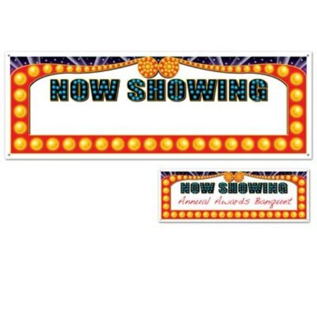 Now Showing Banner (beistle s50218az2, 2 piece now showing sign banners, 5' x)