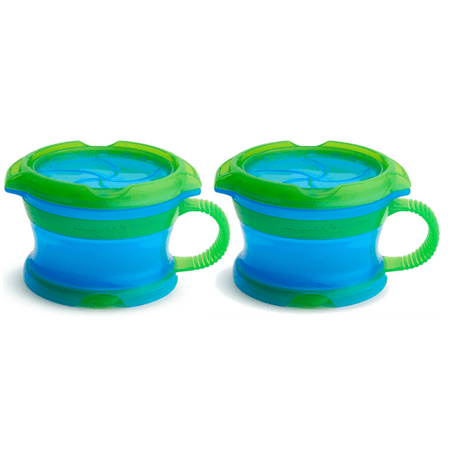 Munchkin Deluxe Snack Catcher Snack Cup, Blue, 2 pack