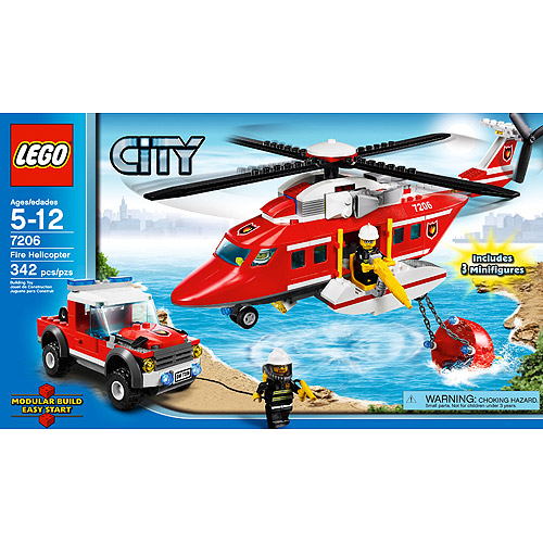 City Fire Helicopter Set LEGO 7206