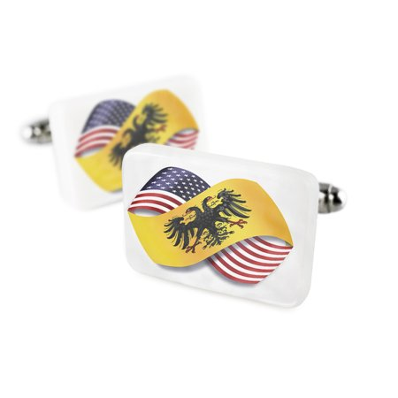 Cufflinks Infinity Flags Usa And The Holy Roman Empire  After 1400  Porcelain Ceramic Neonblond