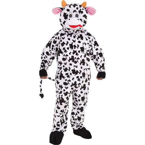 Cow Mascot Adult Halloween Costume - One Size