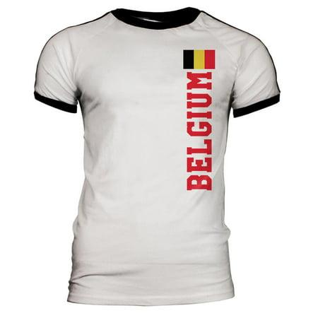World Cup Belgium Mens Soccer Jersey T-Shirt ()