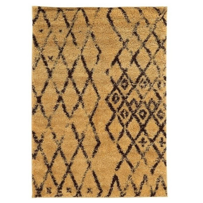 Hawthorne Collection 5' x 7' Shag Rug in Camel