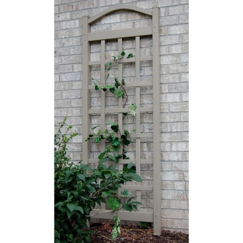 Dura-Trel Cambridge 6-ft. Vinyl Arch Trellis - Mocha