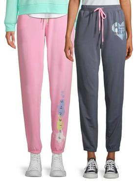 Friends Women's and Women's Plus 2-Pack Jogger Sleep Pants