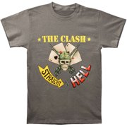 Clash Men's  Straight To Hell T-shirt Grey