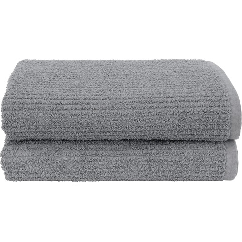 Hanes Ribbed Comfort Stretch 2-Piece Bath or Hair Towel Set