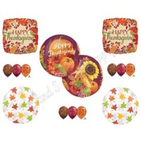 THANKSGIVING ORBZ Harvest DINNER BANQUET Balloons Decoration Supplies Pumpkin