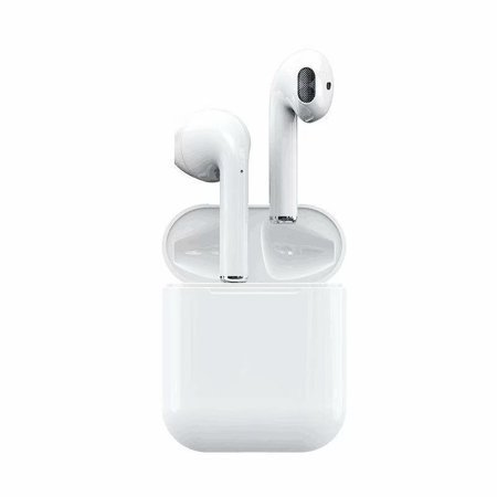 Touch Control i12 TWS Wireless Bluetooth 5.0 Earbuds, Automatic Pairing,Compatible to All Smartphones, Noise Cancelling Earbuds-White