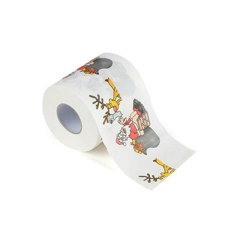 Christmas Printing Paper Toilet Tissues Novelty Roll Paper for Christmas - Decoration For Toilet