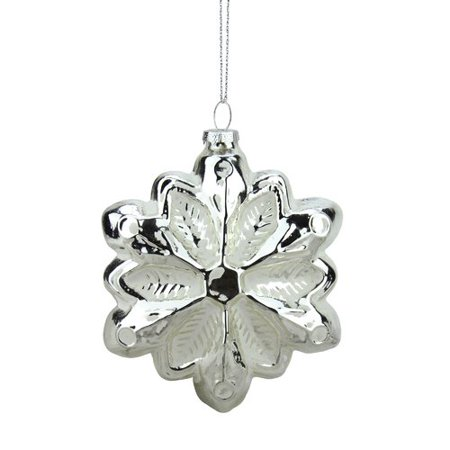 Northlight Seasonal Glass Snowflake Christmas Ornament](Snowflake Glass)