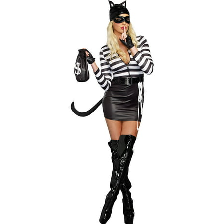 Cat Burglar Women's Adult Halloween Costume - Cat Halloween Costume Pattern