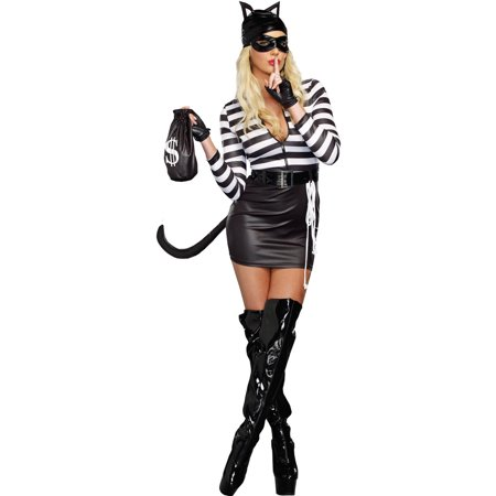 Cat Burglar Women's Adult Halloween Costume](Human Cat Halloween Costumes)