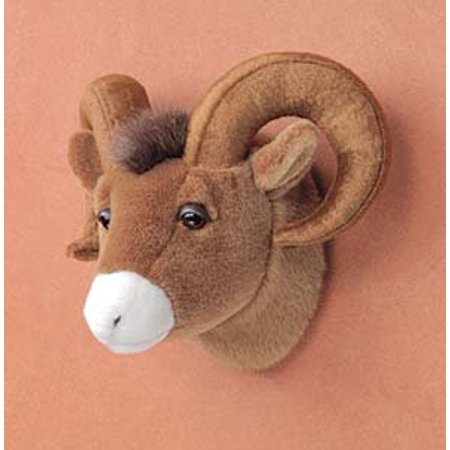 "10"" Big Horn Sheep Ram Head Plush Stuffed Animal Toy"