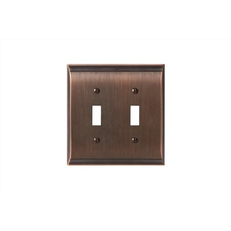 Candler 2 Toggle Oil Rubbed Bronze Wall Plate