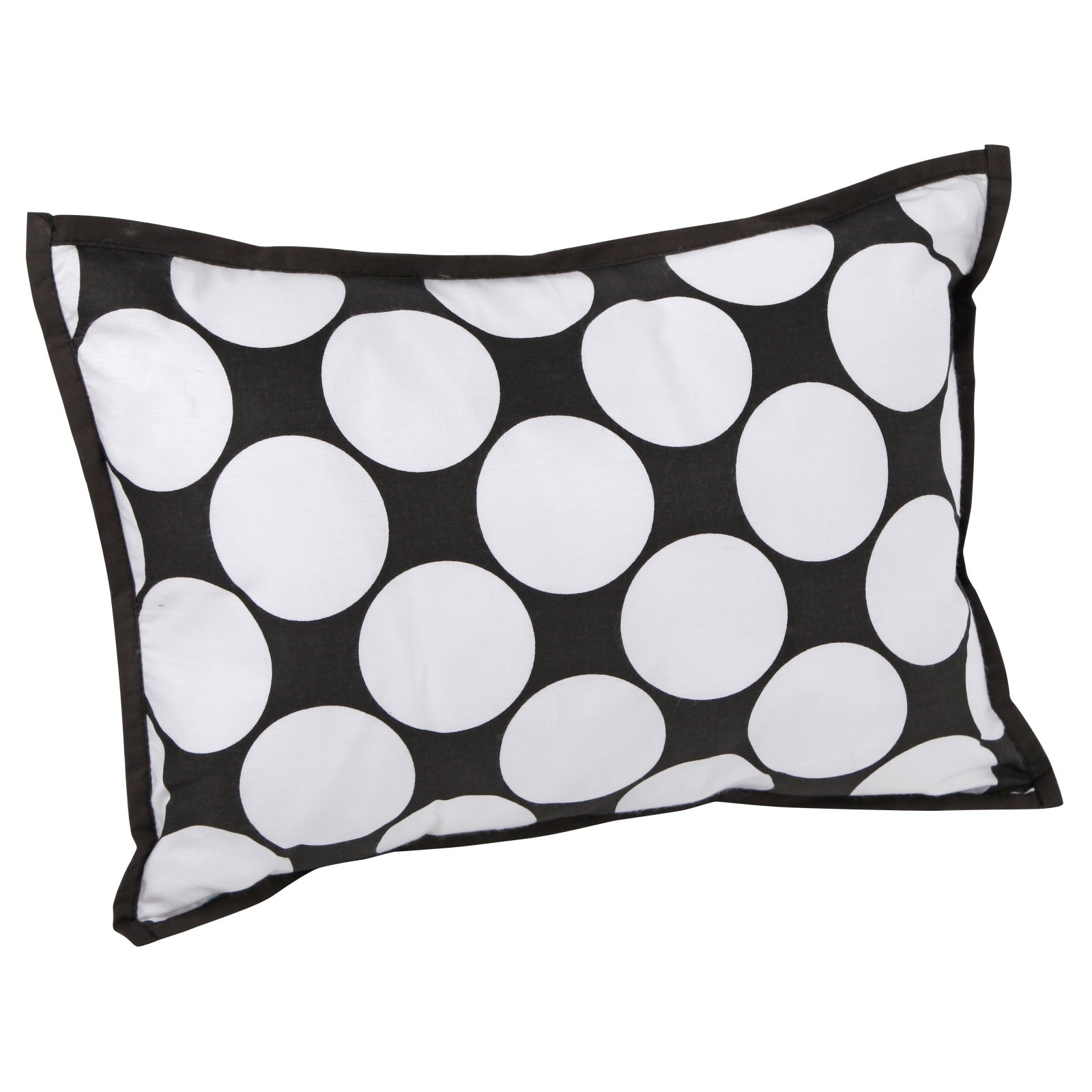 Bacati Dots Pin Stripes Dec Pillow 12 X 16 Inches With Removable 100 Cotton Cover And Polyfilled Insert Gray Yellow
