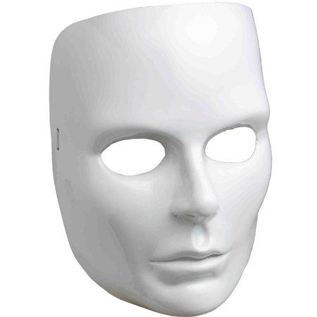 new halloween costume women s female blank white face mask facemask