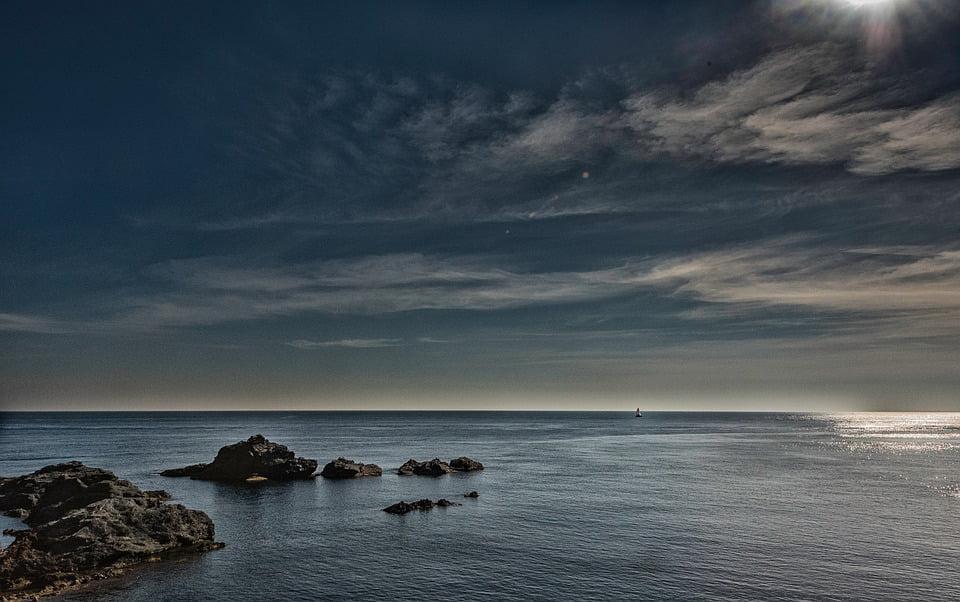 GIANT PRINT POSTER PHOTO NATURE SEA HORIZON SKY BLUE WATER AZURE PDC110