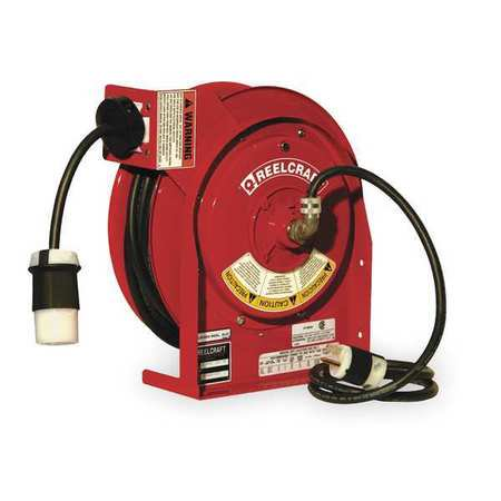 Retractable Cord Reel with 45 ft. Cord 1-Outlet 12/3 REELCRAFT L 4545 123 3B
