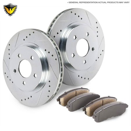 - New Duralo Rear Brake Pad Rotor Kit For Volvo S70 V70 V70R & XC70 P80 AWD
