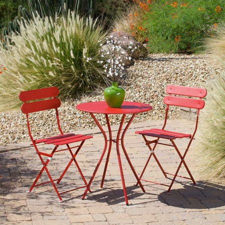 RST Brands Sol 3-Piece Outdoor Bistro Set, - 16 Oz Ceramic Bistro