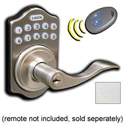 Electronic Digital Door Lock E-985R Lever Lock Satin Chrome-Finish:Satin Chrome