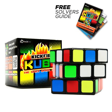 Kickfire Kube Rubiks Cube By Kickfire Classics   Best 3X3 Rubix Cube Puzzle Brain Teasing Game   Features Rounded Corners For Easy Turning   Smooth Play   Free Solving Guide   Beginners   Experts