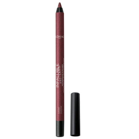 L'Oreal Paris Infallible Pro-Last Waterproof, Up to 24HR Pencil Eyeliner, Burgundy, 0.042 oz.
