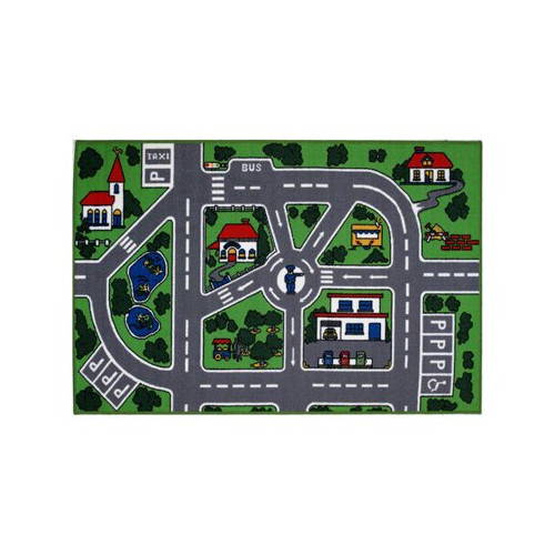 Fun Rugs Fun Time Around Town Road Area Rug