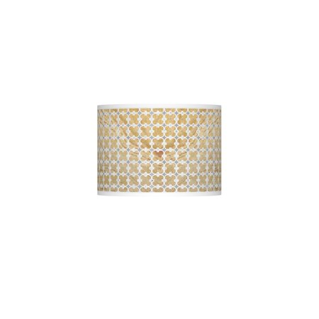 Giclee Glow Marble Quatrefoil Giclee Lamp Shade 13.5x13.5x10 (Spider) ()
