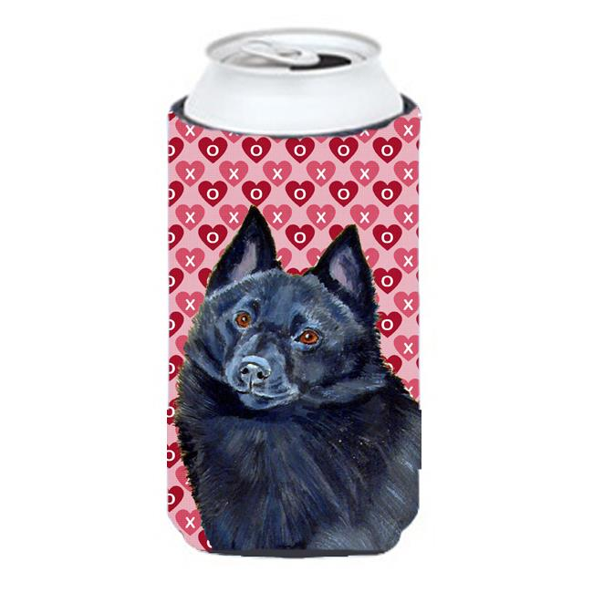 Carolines Treasures LH9159TBC Schipperke Hearts Love And Valentines Day Portrait Tall Boy bottle sleeve Hugger - 22 To 24 oz. - image 1 of 1