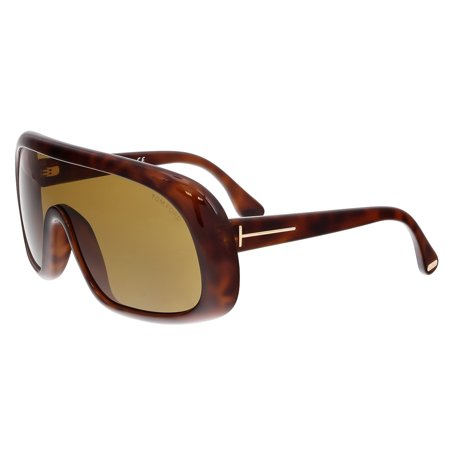 Tom Ford FT0471 56E SVEN Havana Mask Sunglasses ()