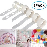 TSV Balloon Garland & Decoration Arch Kit | 2PCS 16.4Ft Balloon Decorations Strip + 400 Double-sided Adhesive Glue Dots Tape| Perfect for Baby Shower Bridal Girls Birthday Party Decorating Strip