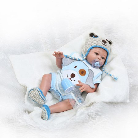 Ktaxon New Cute 20inc Dolls Reborn Doll Baby BOY Life like Realistic Full Silicone Vinyl body