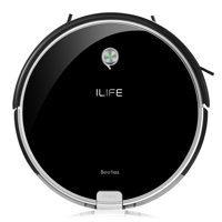 ILIFE A6 Robotic Vacuum Cleaner with Dust Bin (Piano Black)