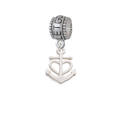 Anchor With Heart   Let Go Let God Charm Bead