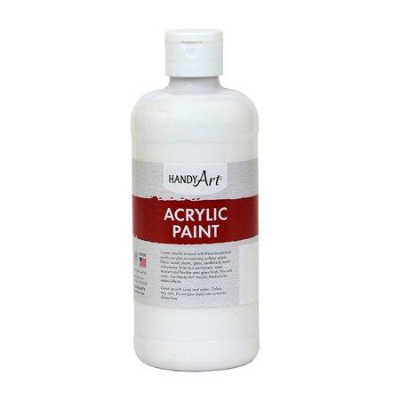 ACRYLIC PAINT 16 OZ TITAN WHITE - White Acrylic Paint