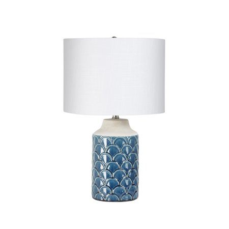 Adonna Blue Scale Ceramic Lamp