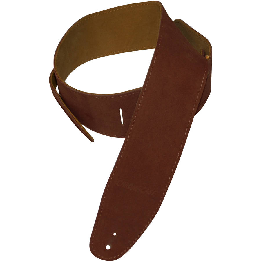 ChromaCast Suede Guitar Strap, Chocolate
