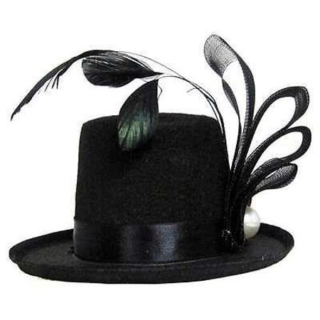 Mini Top Hat with Feathers -