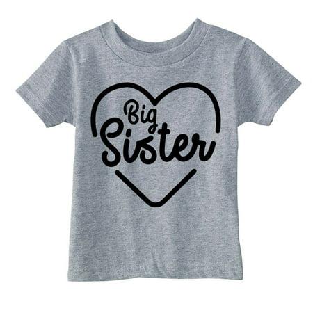 Youth Big Sister Tshirt Cute Adorable Familiy Sibling Tee For Kids