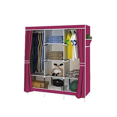 Magshion Super Portable Closet Rack Storage Cloth Shoe Organizer Cloth Super Wine