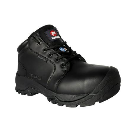 TRUGARD B303BK WAREHOUSE Work Boots for Men Size 9 Steel Toe Electrical Hazard Waterproof Slip Resistant ()