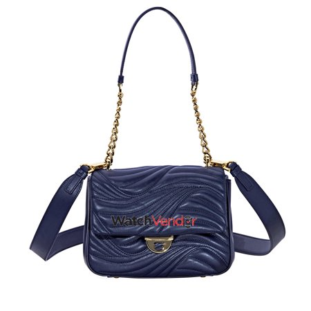 Salvatore Ferragamo Lexi Small Quilted Leather Shoulder Bag- Mirto - image 1 of 5