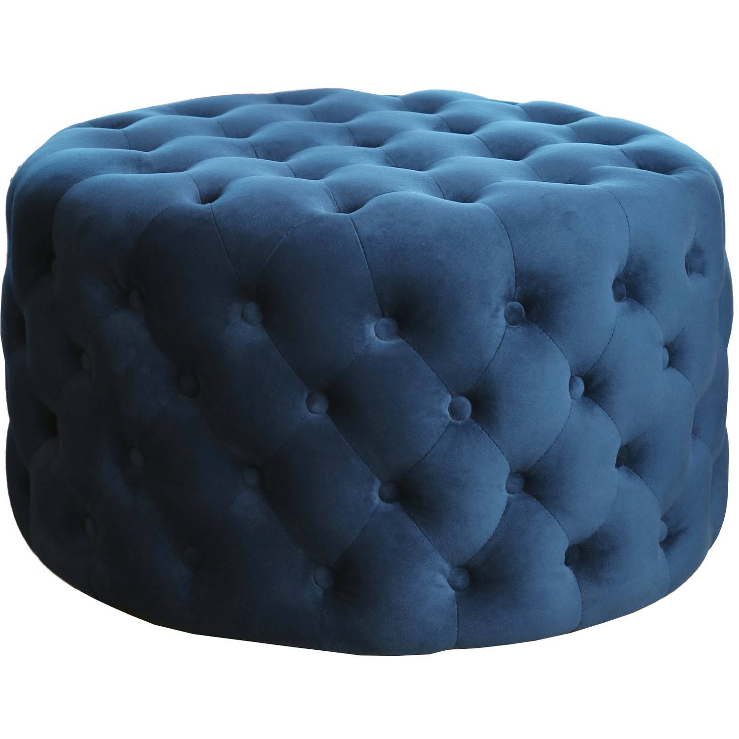 Devon & Claire Charleston Tufted Round Velvet Ottoman, Multiple Colors