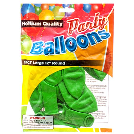 New 374450  Balloon Standard Green 12 10Ct (12-Pack) Party Set Cheap Wholesale Discount Bulk Party Supplies Party Set Gum - Whole Sale Party Supplies